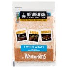 Newburn Bakehouse White Wraps - 4s