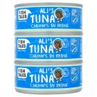 Fish Tales Ali's tuna chunks in brine - drained 3x112g