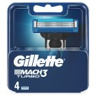 Gillette Mach 3 Turbo Manual Blades 4 countGillette Mach 3 Turbo Manual Razor Blades 4 count - 4s