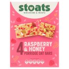 Stoats 4 raspberry & honey porridge oat bars - 4x50g