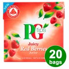 PG Tips juicy red berries 20 bags - 38g