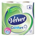 Velvet Comfort soft pure white toilet tissue - 4s