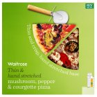 Waitrose hand stretched, thin & crispy fire roasted pepper & courgette pizza - 450g
