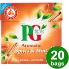PG Tips aromatic spices & mint 20 bags - 40g