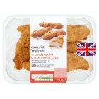 essential Waitrose British smoked paprika breaded chicken breast strips - 250g