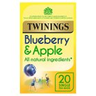 Twinings blueberry & apple 20 tea bags - 40g Brand Price Match - Checked Tesco.com 23/04/2015