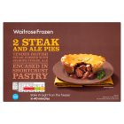 Waitrose frozen steak & ale pies - 440g