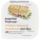 essential Waitrose chicken, bacon & sweetcorn deli filler - 170g