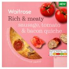 Waitrose sausage, tomato & bacon quiche - 400g
