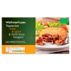 Waitrose Frozen 4 vegetarian chilli bean burgers - 380g