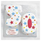 50th Birthday stars and dots cake - each