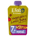 Ella's Kitchen Organic very very tasty vegetable bake with lentils - stage 2 baby food - 130g Brand Price Match - Checked Tesco.com 28/07/2014