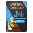 Castello burger blue 5 blue cheese slices - 125g