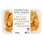 essential Waitrose Breaded British Chicken Goujons - 540g