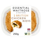 essential Waitrose 2 British breaded chicken garlic kievs - 250g
