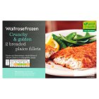 Waitrose frozen 2 breaded plaice fillets - 280g