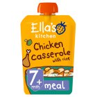 Ella's Kitchen Organic chick-chick chicken casserole with rice - stage 2 baby food - 130g