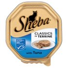 Sheba classics in terrine tuna foil tray cat food - 100g Brand Price Match - Checked Tesco.com 16/07/2014