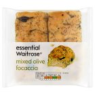 essential Waitrose mixed olive focaccia - 180g