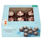 Waitrose red velvet mini cupcakes - 9s
