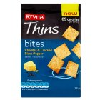 Ryvita Thins bites cheddar & cracked black pepper - 115g Brand Price Match - Checked Tesco.com 19/11/2014