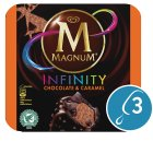 Magnum Infinity chocolate & caramel 3 pack ice cream - 300ml