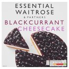 essential Waitrose frozen blackcurrant & cream cheesecake - 515g