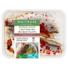 Waitrose boneless sea bass stuffed with slow roast tomatoes & kalamata olive - 320g