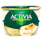 Activia Intensely Creamy - peaches & cream - 4x110g Brand Price Match - Checked Tesco.com 05/03/2014
