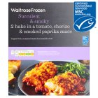 Waitrose Frozen 2Hake Tomato Chorizo Smoked Paprika Sauce - 335g Introductory Offer