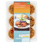 Waitrose 6 Thai Salmon Mini Burgers - 360g