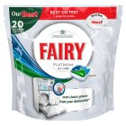 Fairy 20 platinum original dishwasher tablets - 20s Brand Price Match - Checked Tesco.com 05/03/2014