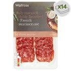 Waitrose French saucisson sec ham, 14 slices - 70g