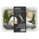 Heston from Waitrose 2 sea bass fillets with samphire & vanilla butter - 280g