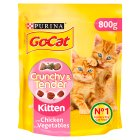 PURINA® GO-CAT® CRUNCHY&TENDER KITTEN with Chicken & added Vegetables dry cat food - 800g