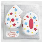 60th Birthday stars and dots cake - each