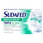Sudafed mucus relief triple action tablet - 16s Brand Price Match - Checked Tesco.com 25/02/2015