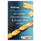 Waitrose cheese & poppy seed twists - 125g