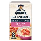 Quaker Oats So Simple Heaps of Fruit summer berries porridge sachets - 282g Brand Price Match - Checked Tesco.com 02/09/2015