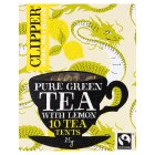 Clipper Fairtrade pure green tea with lemon 10s - 25g
