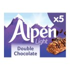 Alpen light double chocolate 5 bars - 95g Brand Price Match - Checked Tesco.com 03/02/2016