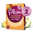 Plum organic four grain with apple & apricot porridge - stage 2