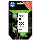 HP 300 black & colour ink cartridge, pack of 2 - 2s