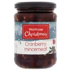 Waitrose Christmas cranberry & port mincemeat - 410g