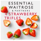 essential Waitrose strawberry trifles - 4x125g