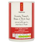 Waitrose Love life chunky tomato, bean & pork soup - 400g