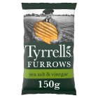 Tyrrells furrows sea salt & vinegar crisps - 150g