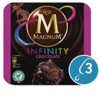 Magnum Infinity chocolate 3 pack ice cream - 300ml