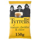 Tyrrells mature cheddar & chives potato chips - 150g
