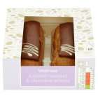 Waitrose Salted Caramel & Chocolate Éclairs - 2s